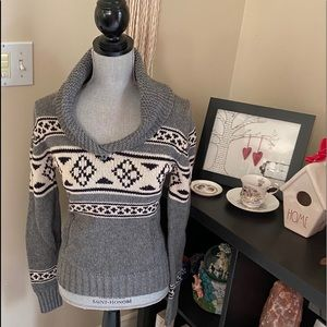 TNA Pullover Cowl Neck Sweater
